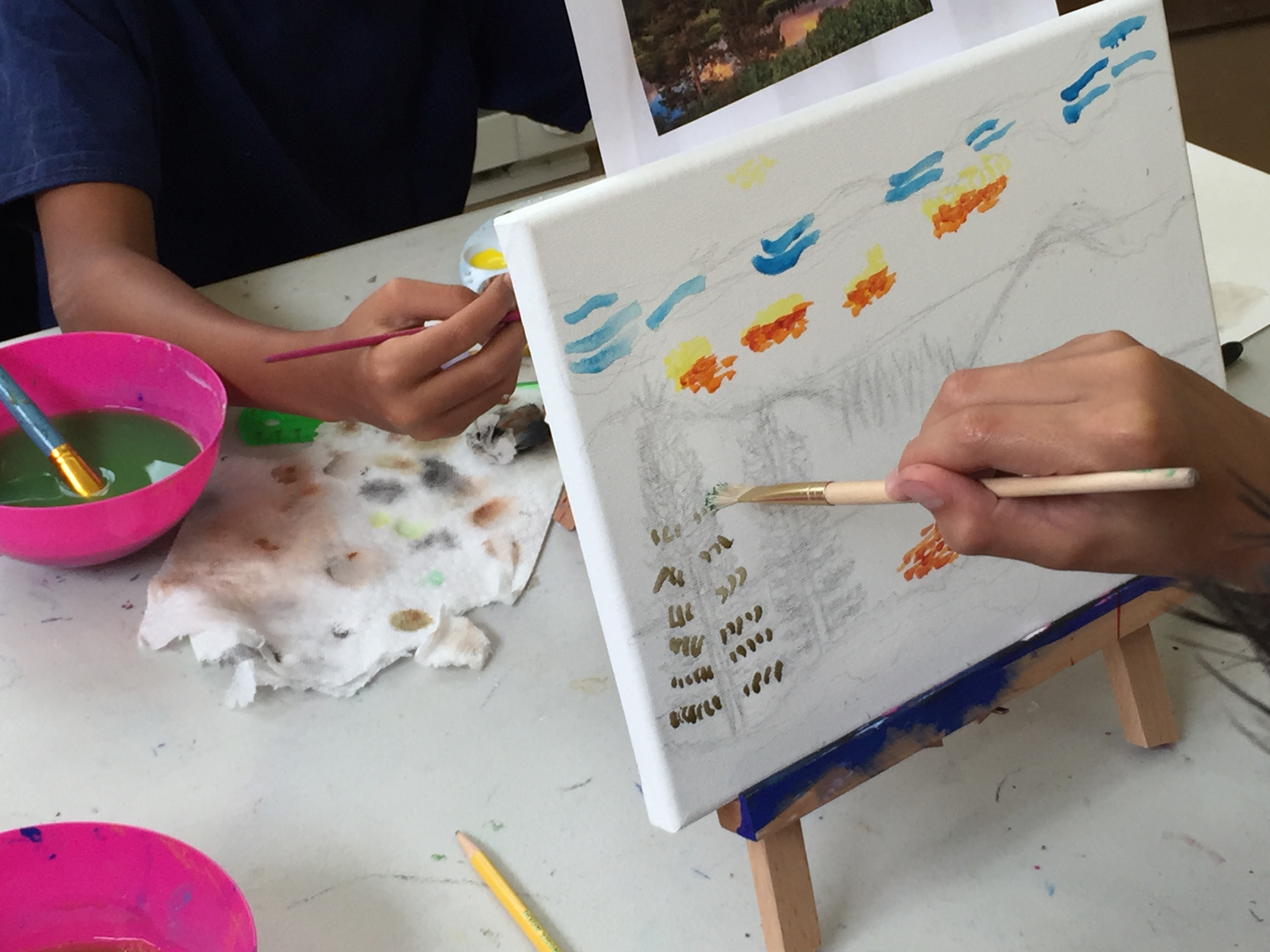 Painting fun in Colleen Moore's Paint Like the Masters: Impressionism camp.