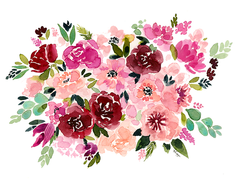 Winter Floral Watercolor Painting with Kris Loya